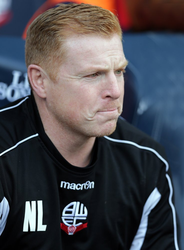 Delighted: Bolton manager Neil Lennon