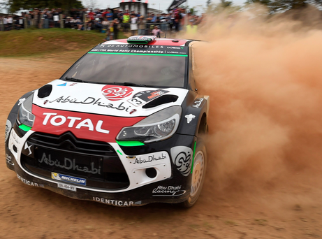 Right track: Kris Meeke loses the lead in Australia but he's happy with his impressive performance