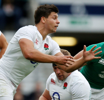 England's Ben Youngs passes during the World Cup Warm up match at Twickenham Stadium, London. PRESS ASSOCIATION Photo. Picture date: Saturday September 5, 2015. See PA story RUGBYU England. Photo credit should read: Paul Harding/PA Wire