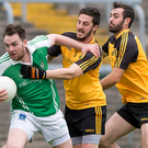 Holding off: Roslea's Shane McMahon under pressure