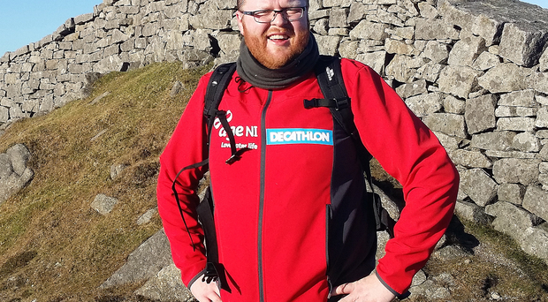 Nick Craig walking in the Mourne Mountains