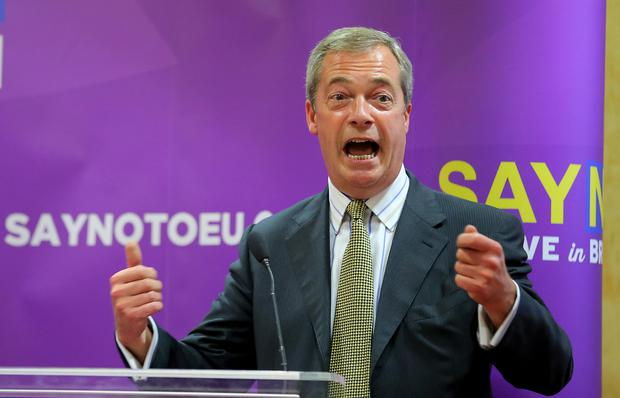 Nigel Farage during a UKIP conference at the Park Avenue Hotel in Belfast. Photo: Kevin Scott / Belfast Telegraph