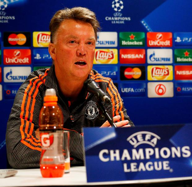 Louis van Gaal said his players still have to convince him they are good enough for Europe's elite competition