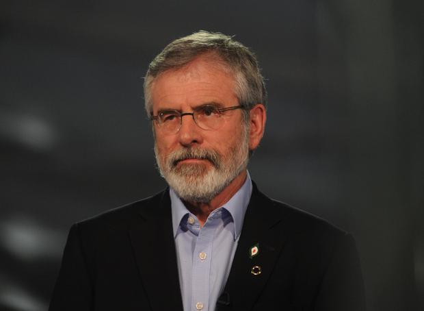 Sinn Fein president Gerry Adams said 'anything could happen' in the Republic's election