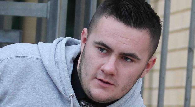 Colin White, leaves Antrim Magistrates Court following the hearing. Picture Mark Jamieson.