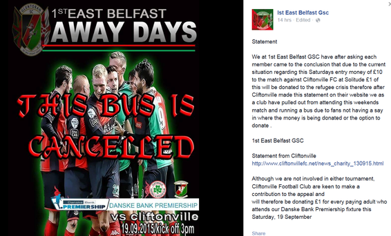 1st East Belfast GSC facebook post Pic: Facebook