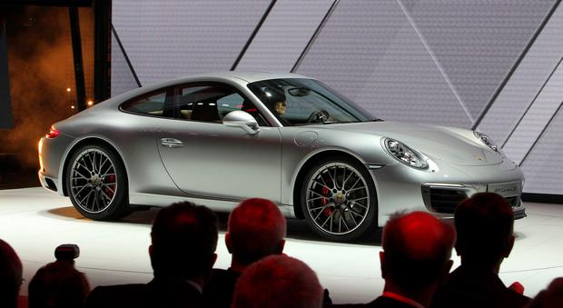 A Porsche 911 Carrera S car is presented at the 66th IAA auto show in Frankfurt am Main, western Germany, on September 15, 2015. Hundreds of thousands of visitors are expected to crowd into the massive exhibition halls of Frankfurt's sprawling trade fair grounds from September 19-27 to catch a glimpse of the latest models and high tech innovations. AFP PHOTO / DANIEL ROLANDDANIEL ROLAND/AFP/Getty Images
