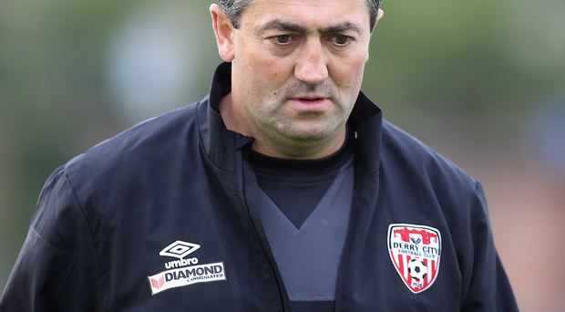 Change of direction: Peter Hutton has left his role as Derry City manager