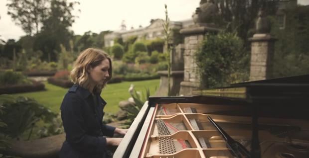 Lilla Vargen in her video at Mount Stewart pic: Still from Burberry acoustic sessions youtube