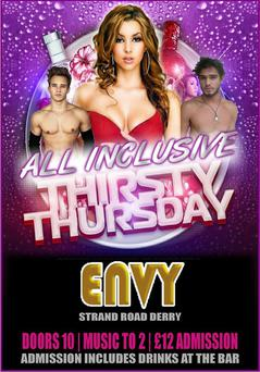 A 'Thirsty Thursday' promotion recently advertised on Envy Nightclub's Facebook page