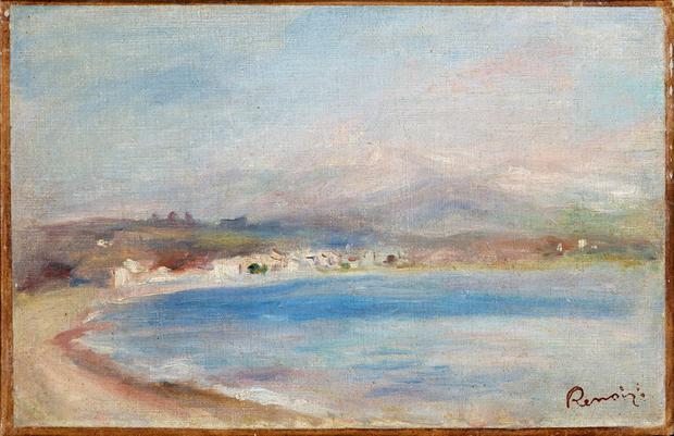 Image issued by Bristol City Council of a painting by Pierre-Auguste Renoir titled The Coast of Cagnes