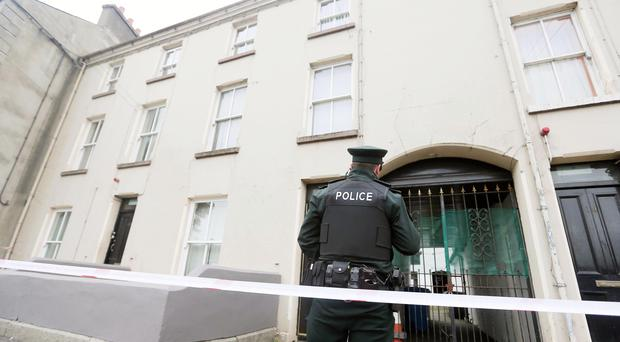 Police at the scene of the Sandys Street shooting. Picture by Jonathan Porter/PressEye