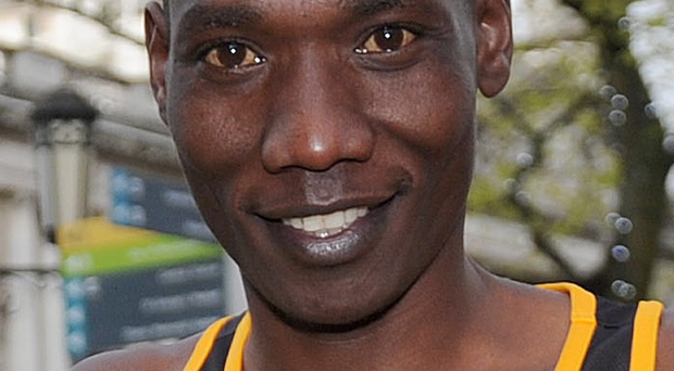Leading man: Gideon Kimosop tipped for half marathon win