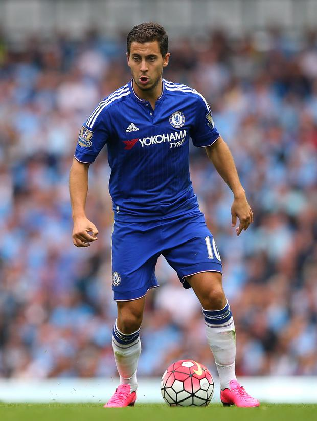 Under pressure: Eden Hazard has yet to produce his dazzling form of last year but has the support of boss Jose Mourinho