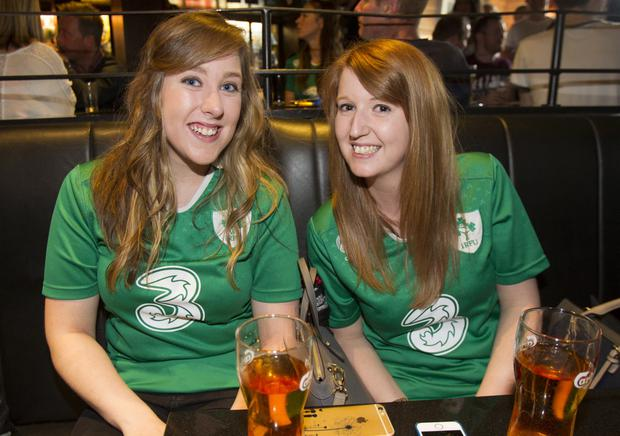 Ireland fans watch match against Canada at The Bot. Pic: Liam McBurney/RAZORPIX.