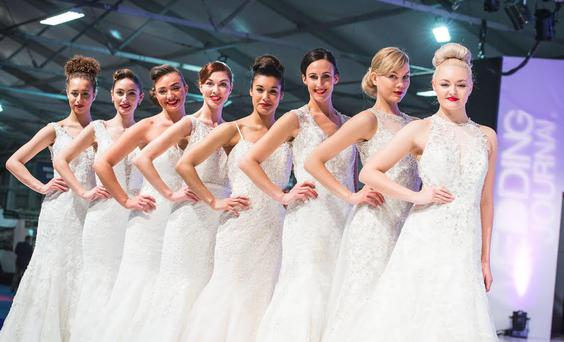 At the Bridal Catwalk Show, models showed off the latest designer wedding gowns