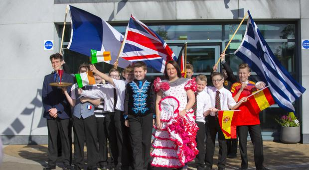 De La Salle College hosted European Day of Languages on 24th September. Picture - Kevin Scott