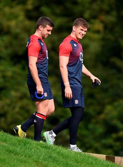 Disappointing call: England's George Ford (left) has been replaced by Owen Farrell for tomorrow's clash with Wales