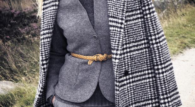 Coat £720, Carven; blazer £135, No Mans Land; jumper £440, Avant Toi; trousers £273, Nicole Farhi