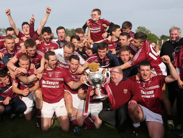 We are the champions: Cushendall celebrate title success in Dunloy