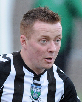 Newcastle player-manager Ciaran Brannigan