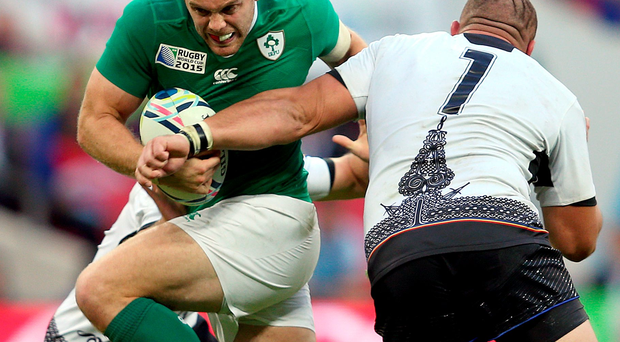 Top notch: Ireland's Jared Payne put on a classy display
