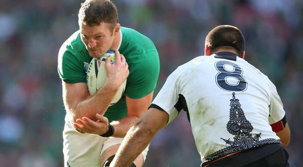 Comeback trail: Donnacha Ryan was glad to be back playing again after a spell out injured