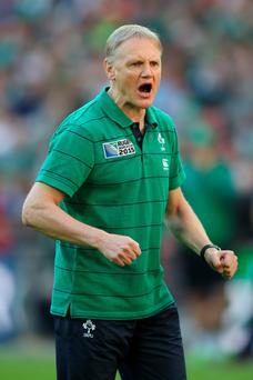 Headache: Joe Schmidt has a number of decisions to make for the starting line-up against Italy
