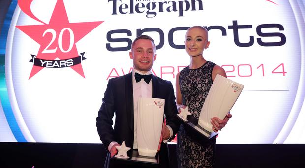 Amy Uprichard (representing the Daisy Lodge Cancer Fund for Children Centre, supported by the Rory McIlroy Foundation) and Carl Frampton