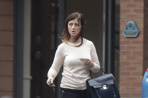 Angela Cosgrave leaving the hotel in Belfast following a meeting with a Sunday Life reporter.