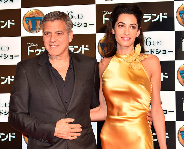 Property row: the Clooneys