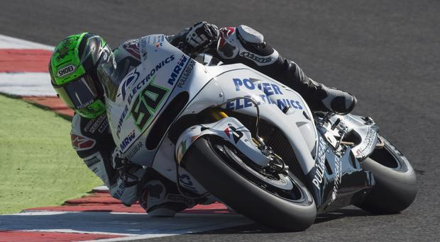 Looking ahead: Eugene Laverty wants to remain with Aspar in MotoGP after his first Open Class victory in Spain