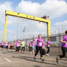 Press Eye - Belfast - Northern Ireland 3 October 2015 - Belfast Telegraph Runher Titanic Quarter 5K & 10k Picture by Andrew Paton/Press Eye.com