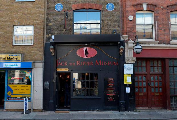 A general view of the Jack the Ripper museum on Cable Street, Whitechapel, after it was announced the anarchist group Class War had cancelled a demonstration outside the east London museum. Anthony Devlin/PA Wire.