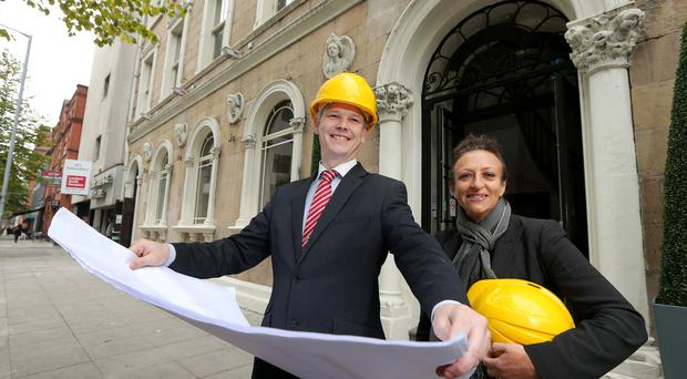 Ten Square manager Stephen Perry and event manager Lucy Anderson outside the soon to be extended hotel