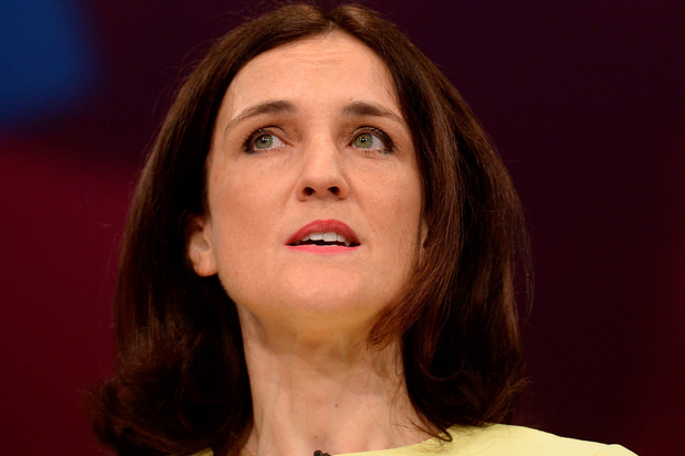 Northern Ireland Secretary Theresa Villiers addresses the Conservative Party conference at Manchester Central.
