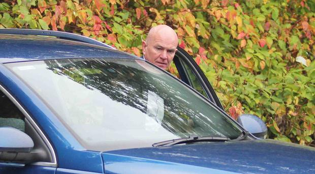 Former All-Ireland winning County Derry GAA player Johnny McGurk is pictured leaving Coleraine Magistrates Court
