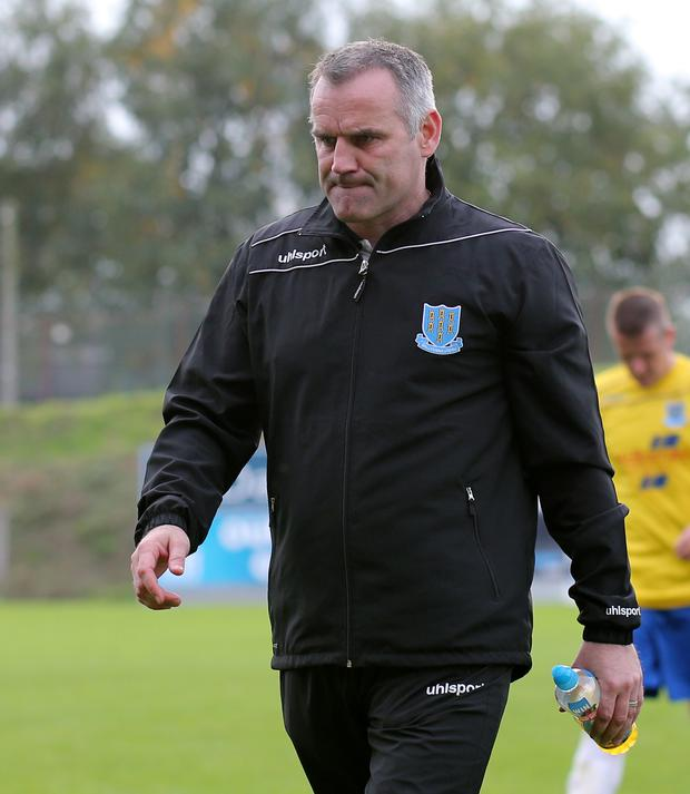 Taking initiative: Glenn Ferguson was unhappy with the referee