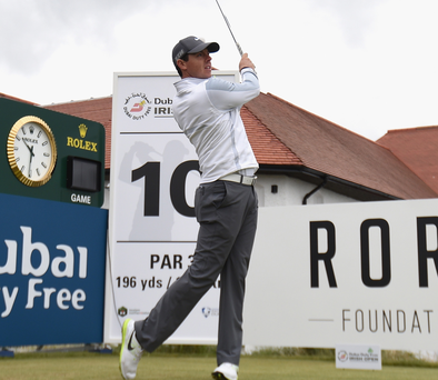 Firm Foundation: Rory in action at Royal County Down in May