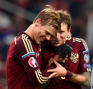 We're there: Russia's Aleksandr Kokorin and Pavel Mamaev