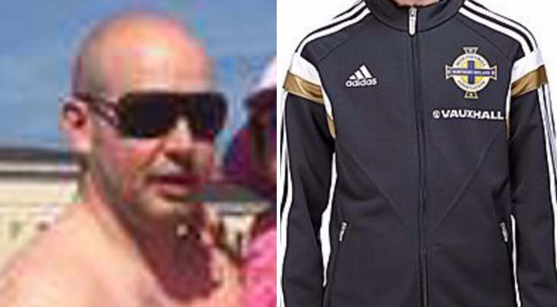 Stuart Meikle and the Northern Ireland tracksuit he was wearing when barred