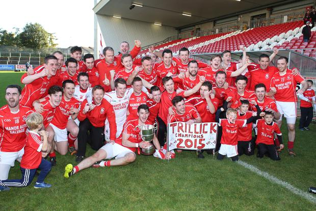 Winners again: Trillick celebrate their first Tyrone county title since 1986