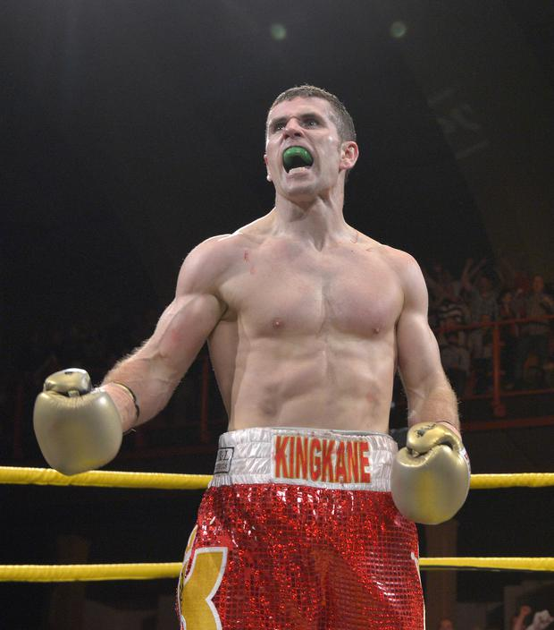 Title bite: Eamonn O'Kane is fighting in the Big Apple