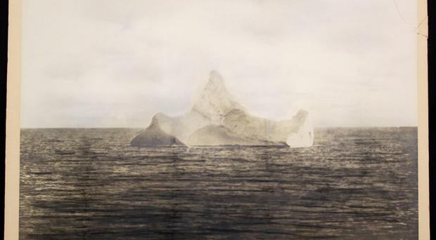 Undated handout photo issued by Henry Aldridge & Son of a photograph purporting to be of the iceberg that sank the Titanic, which is to go under the hammer. Henry Aldridge & Son/PA Wire