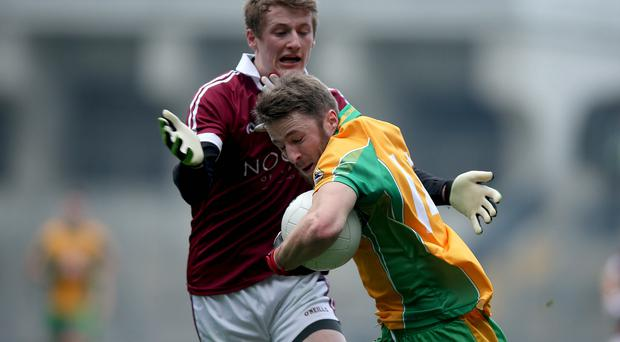 At the double: Brendan Rogers (left, and inset) relishes his role as a dual player with Slaughtneil