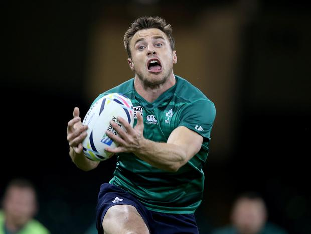 All in hand: Tommy Bowe wants to put in a shining display to help Ireland to their first ever semi-finals