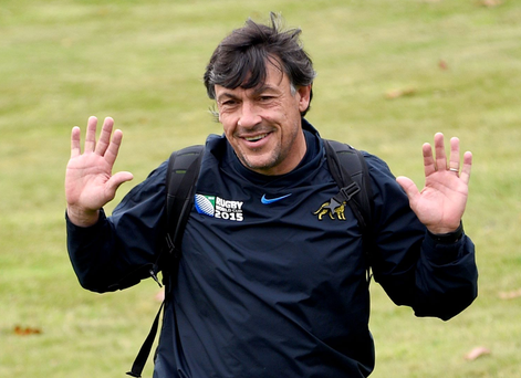 Big impression: Argentina's head coach Daniel Hourcade has helped to build the Pumas into a more dangerous outfit