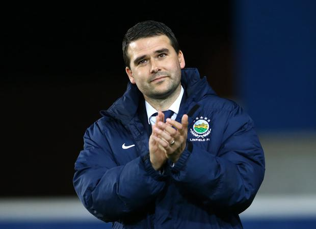 New man in charge: David Healy will call the shots for Linfield against Warrenpoint Town this afternoon