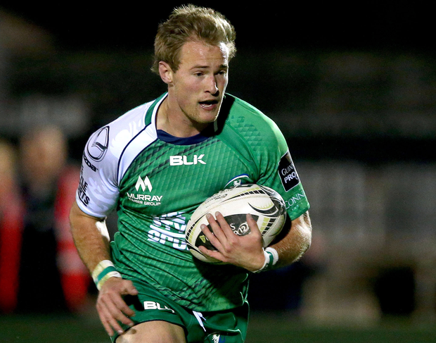 Breakaway: Connacht's Kieran Marmion on his way to a try