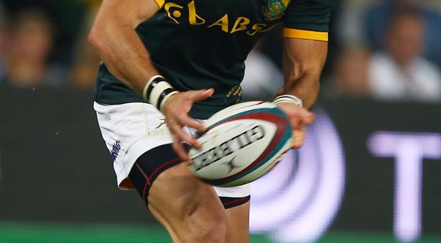 DURBAN, SOUTH AFRICA - AUGUST 08: Ruan Pienaar of South Africa during The Castle Lager Rugby Championship 2015 match between South Africa and Argentina at Growthpoint Kings Park on August 08, 2015 in Durban, South Africa. (Photo by Steve Haag/Gallo Images/Getty Images)